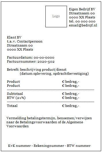 """Checklist """"Professioneel factureren"""""""